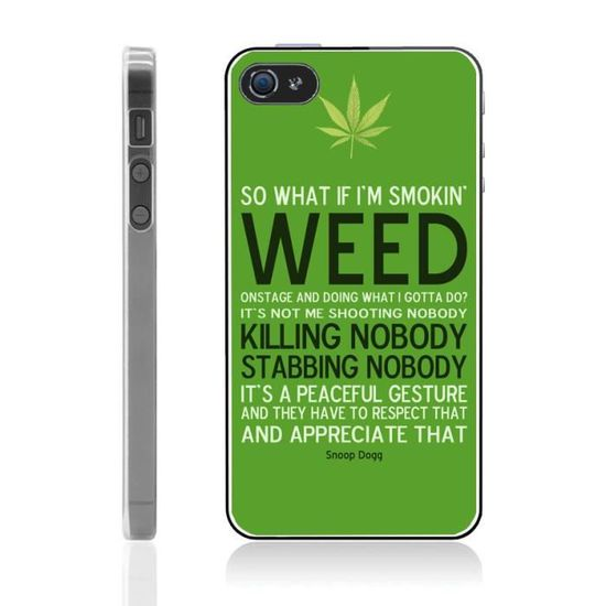 coque iphone 4 4s weed
