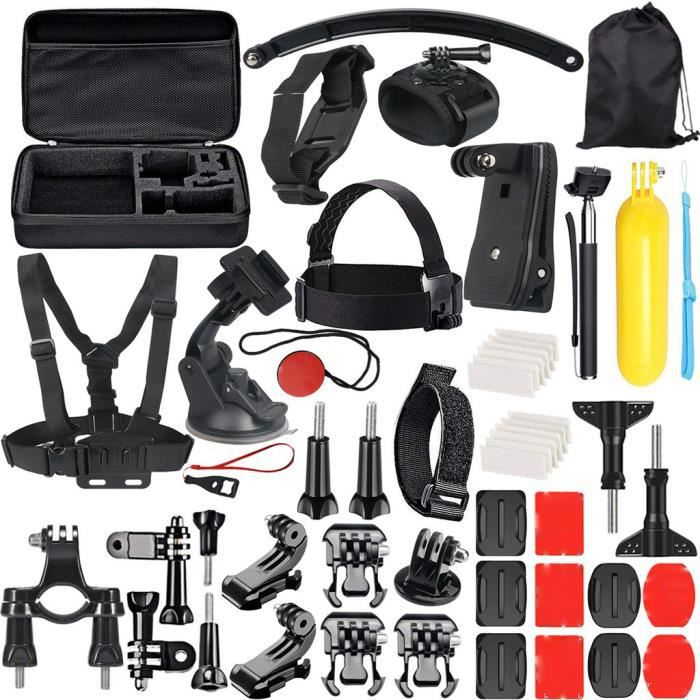 Accessoire 49-In-1 Kit pour GoPro 7-6-5-4-3 + - 3-2-1 session Hero 5 - SJ4000 - 5000 @jpoui2974
