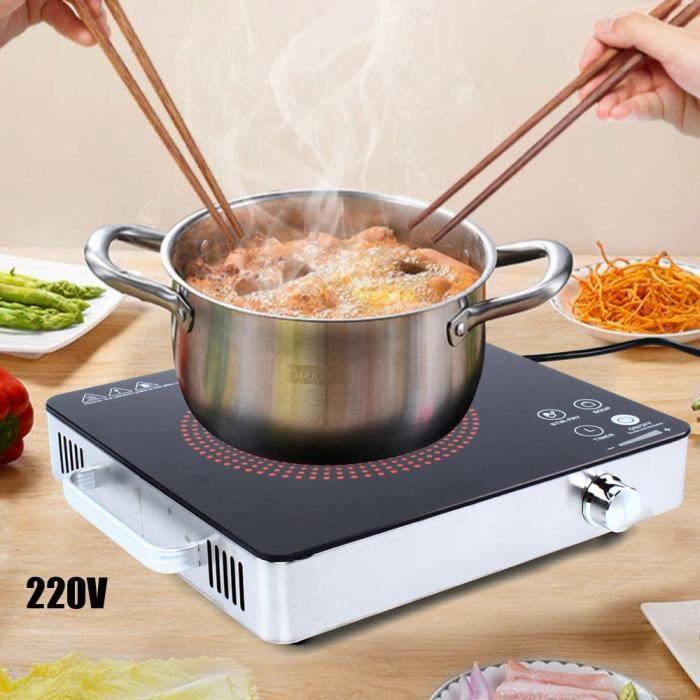 2200W 220V Cuisinière en céramique portative de brûleur de table de cuisson électrique de cuisine