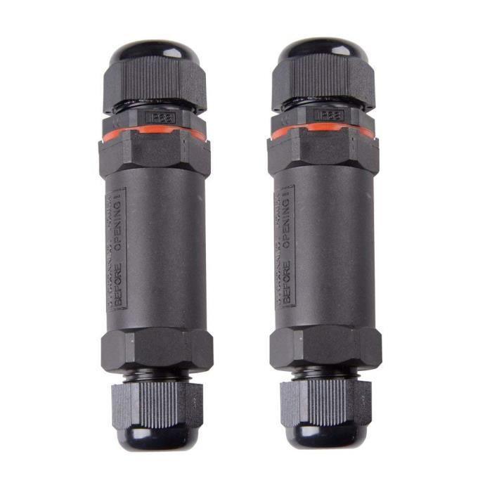 TJW Lot de 2/bo/îte de d/érivation connecteur de c/âble 13/mm c/âble Diam/ètre /étanche Bo/îte de jonction Sleeve Coupler pour /Ø1