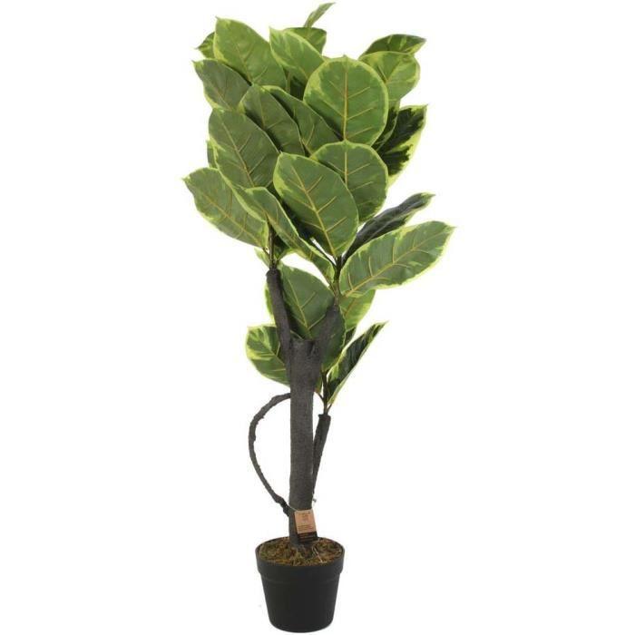 Plante verte artificielle en pot 110 cm Vert