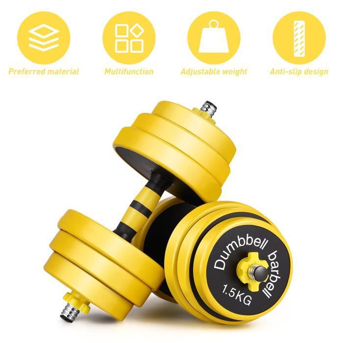 25 kg d'haltère 1 pair - haute qualité ,pour Entretien physique, Fitness,Musculation - Haltérophilie#5
