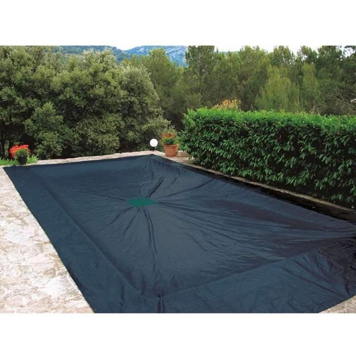 BACHE - COUVERTURE - VOLET - ENROULEUR WerkaPro 07426 - B&acircche de protection 5x9 m - Pour piscine rectangulaire - 240g-m2 -49