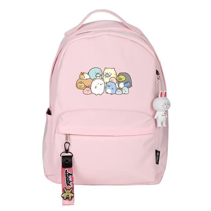 Sac à Dos,Sumikko Gurashi impression sac à dos femmes mignon sac à dos Kawaii école sac à dos en Nylon rose - Type 14