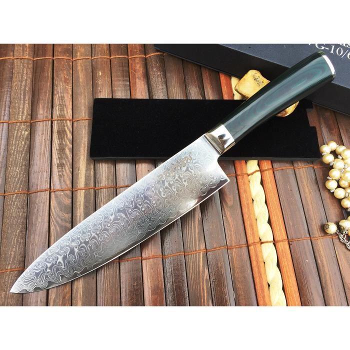 couteau de chef damas