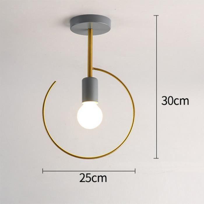 Suspension Lustre abat-jour Design Nordic E27 Type 10