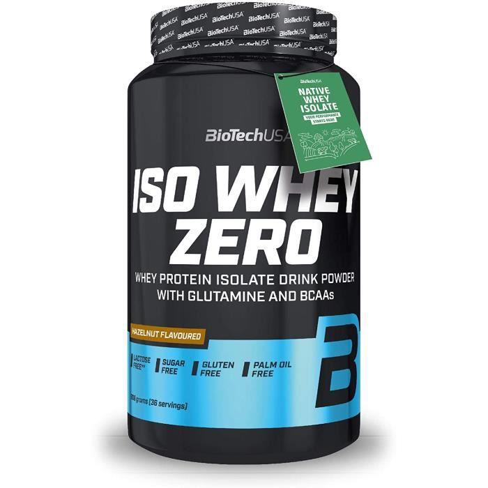 Iso Whey Zero 908g NOISETTE Proteine ISOLATE Biotech USA