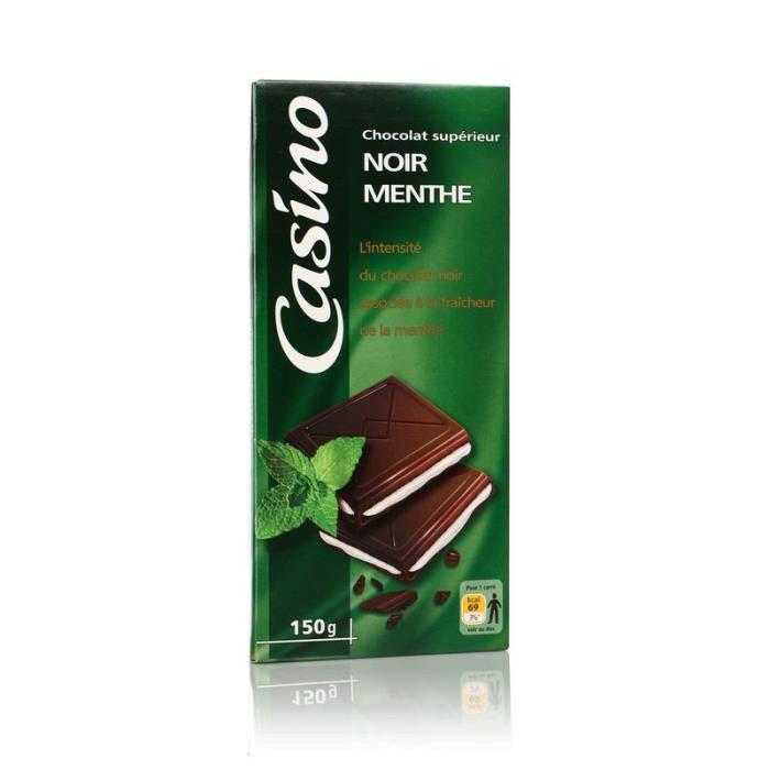 Chocolat supérieur noir menthe - 150 g