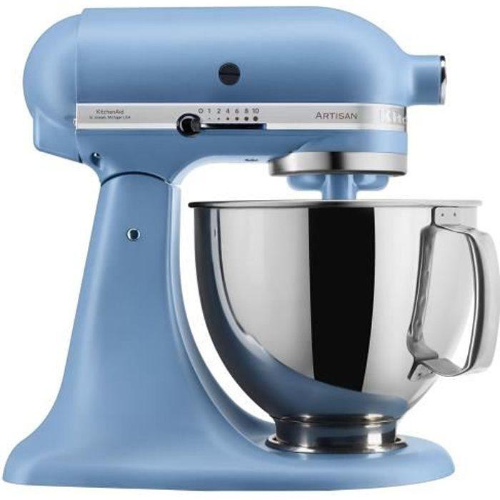 KitchenAid Artisan 5KSM175PSEVB Robot pâtissier 300 Watt bleu rétro