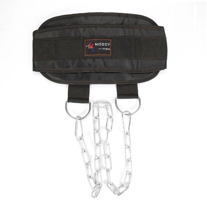 Ceinture de musculation haltère pull-up avec ceinture en chaîne de fer