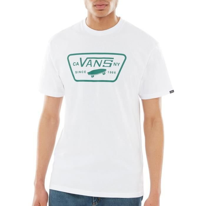 Tee shirt Vans Full Patch Blanc Evergreen