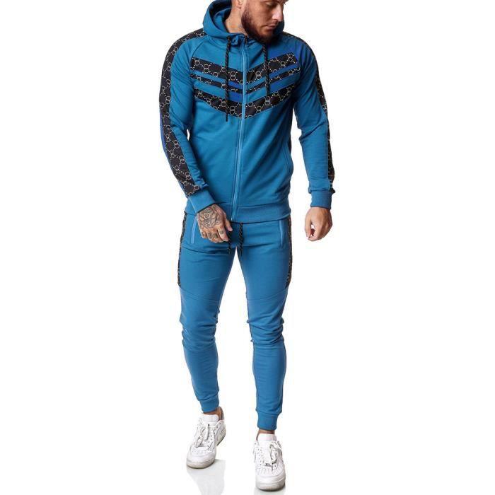 Survêtement homme fashion Survêt 13108 bleu S