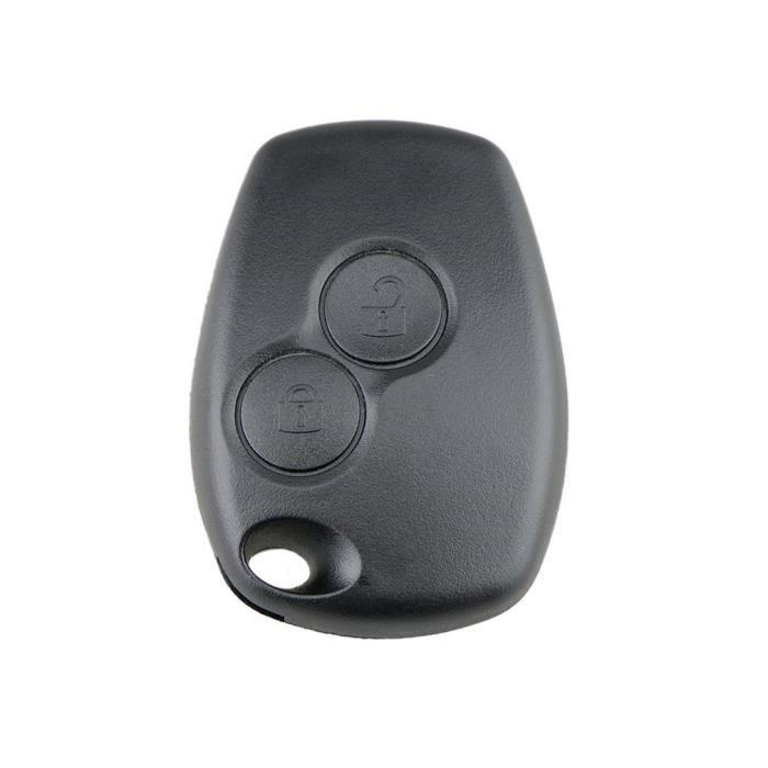INT Etui clé 2-3 B pour Renault Megane Modus Espace Laguna Duster Logan Dacia noir