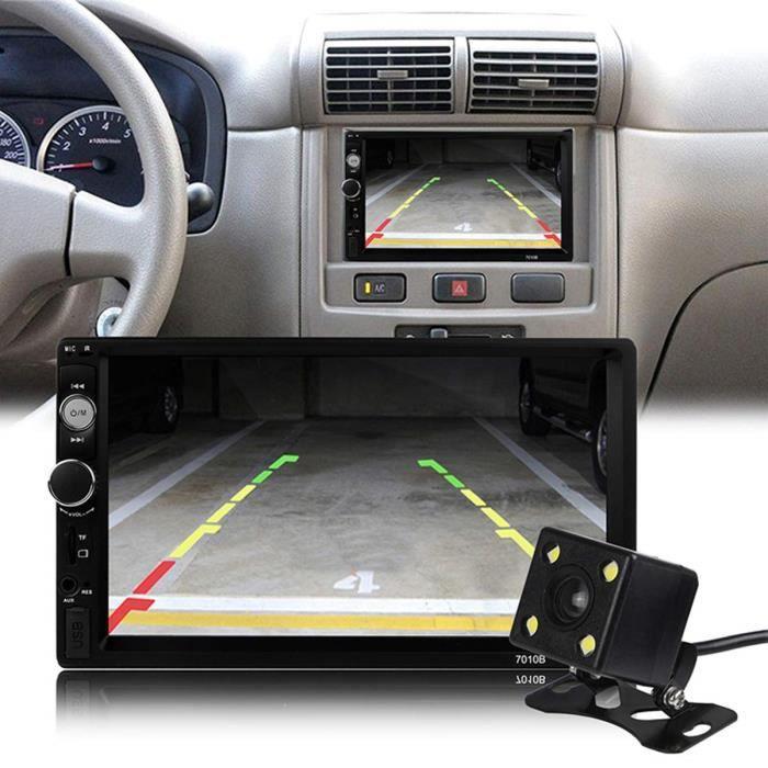 Autoradio HD 2 DIN écran 7- tactile navigation MP5-radio-carte SD-USB multimédia caméra de recul supporté avec télécommande