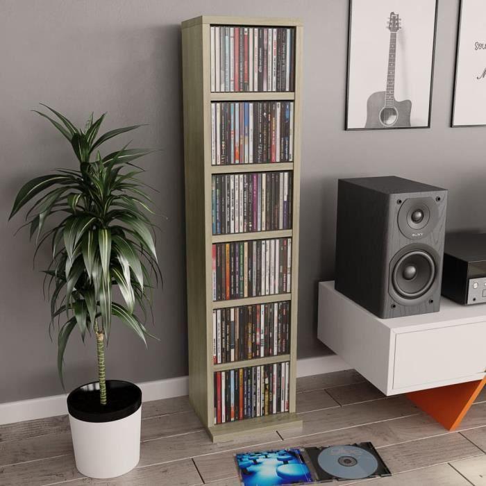 Armoire à CD Meuble CD Chêne sonoma 21 x 16 x 88 cm Aggloméré