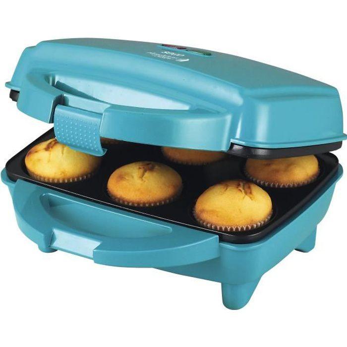 Sogo CCM-SS-7188 - Machine à cupcakes et muffins, 6 cupcakes, 700 W, couleur bleue