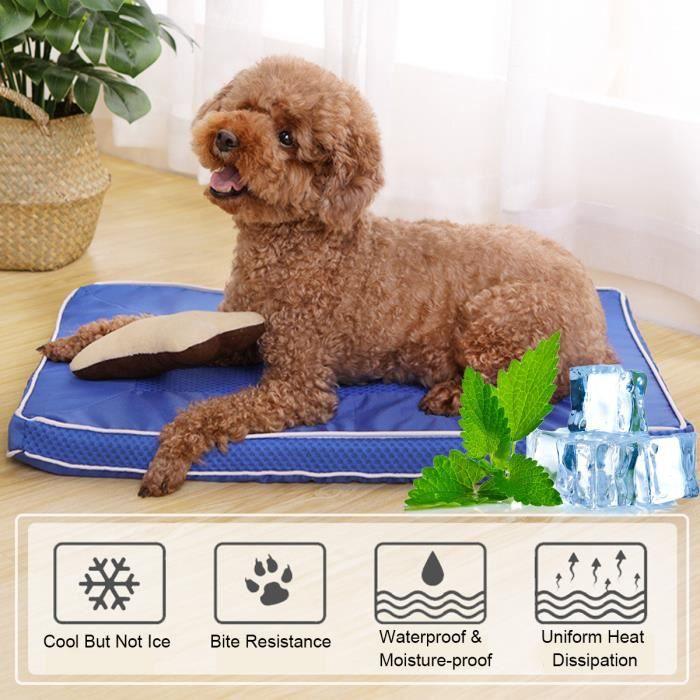 TEMPSA Tapis rafraichissant Tapis de refroidissement pour chien en été Coussin Cool Confort 73X46CM