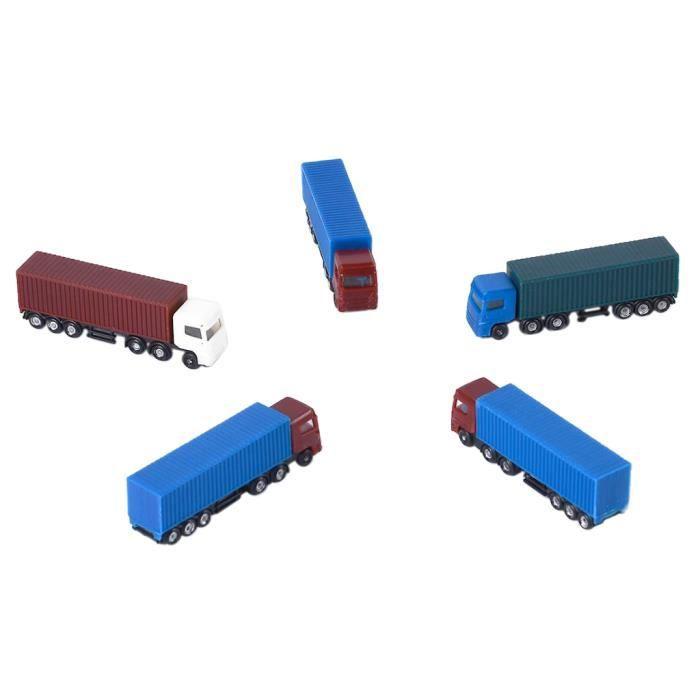VEHICULE A CONSTRUIRE - ENGIN TERRESTRE A CONSTRUIRE Jouets Camions 5 Pièces (Couleurs Aléatoires)