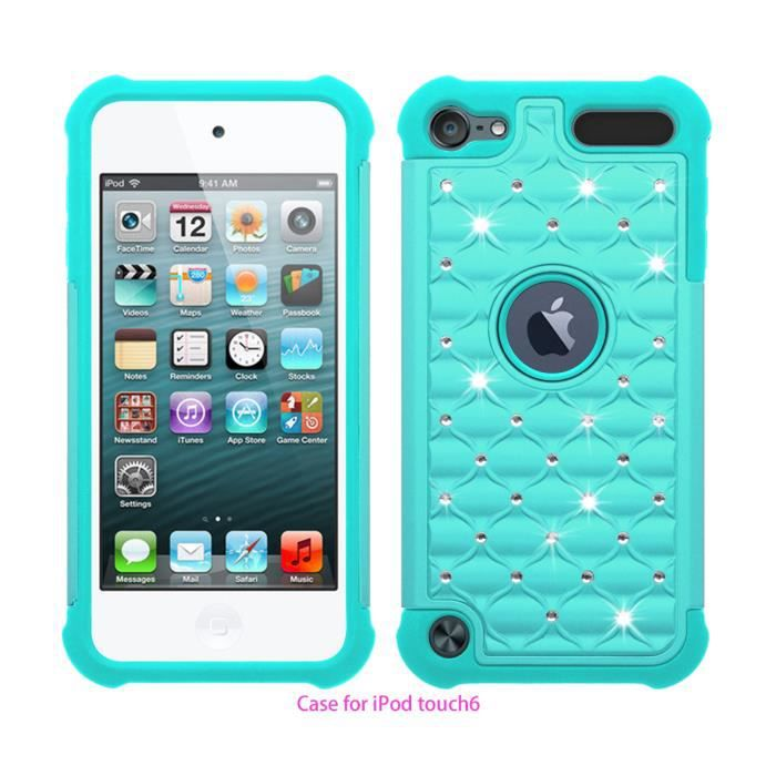 Coque housse etui apple ipod touch 5 touch 6 bleu ciel for Housse ipod touch