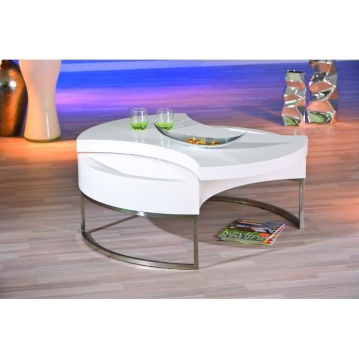table basse avec rangement laqu blanche achat vente table basse table basse avec rangement. Black Bedroom Furniture Sets. Home Design Ideas