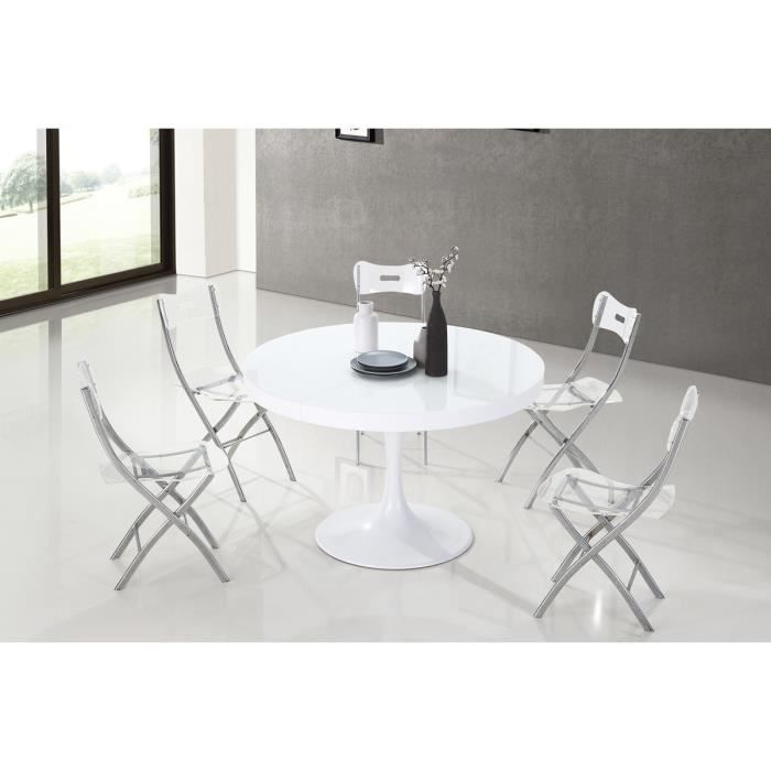 table manger ronde design blanche isola achat vente table manger seule table manger. Black Bedroom Furniture Sets. Home Design Ideas