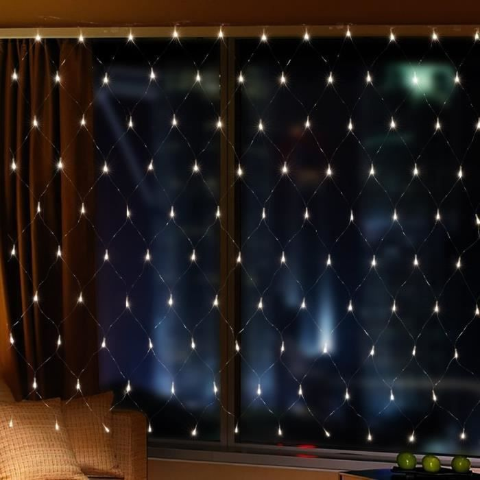 2m x 3m 200 leds guirlande lumineuses filet rideau de lumi re avec 8 modes eclairage d coration. Black Bedroom Furniture Sets. Home Design Ideas
