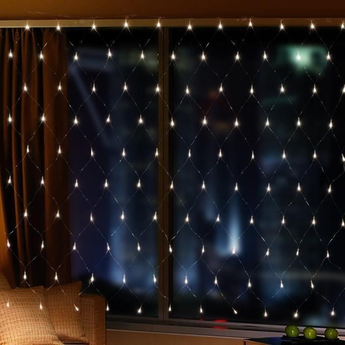 Filet Lumineux Silingsan 3M*2M LED Guirlande Lumineuses Filet 8 Modes de Fonctionnement Lumi/ère Blanc Chaud D/écoration de Jardin Chambre Mariage No/ël Soir/ée F/ête Halloween Saint-Valentin