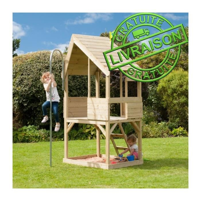 cabane maison de jardin en bois pour enfants tp play house mod le chalet achat vente. Black Bedroom Furniture Sets. Home Design Ideas