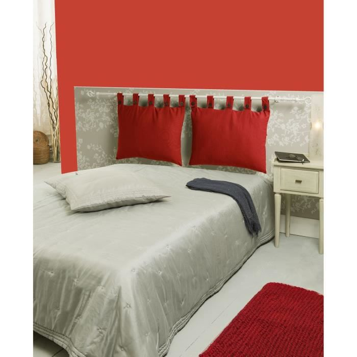 coussin tete de lit rouge table de lit a roulettes. Black Bedroom Furniture Sets. Home Design Ideas