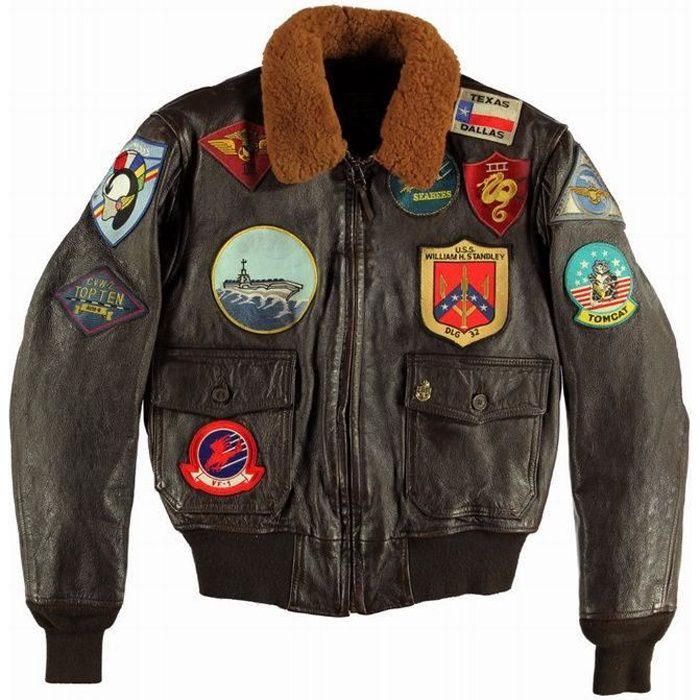 blouson aviateur en cuir g 1 top gun tom cruise cockpit usa made in usa marron achat vente. Black Bedroom Furniture Sets. Home Design Ideas