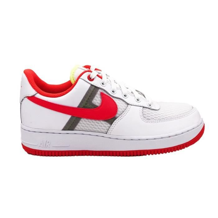NIKE AIR FORCE 1 '07 LV8 1 SNEAKERS BIANCO ROSSO SNEAKERS (40 BIANCO)