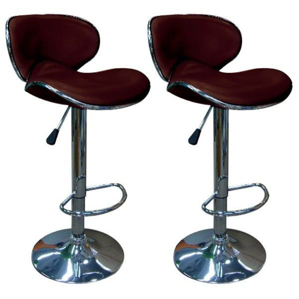 2 tabourets de bar chocolat achat vente tabouret de bar cdiscount. Black Bedroom Furniture Sets. Home Design Ideas