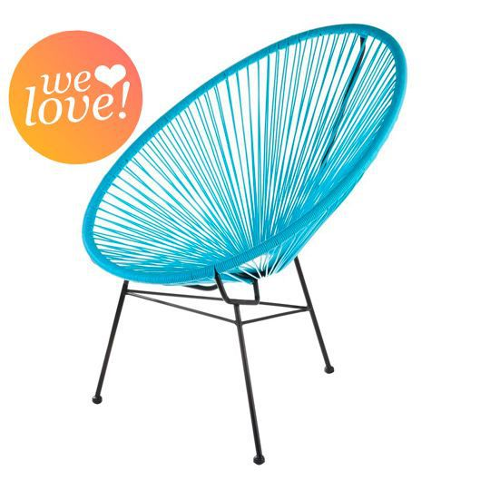 fauteuil acapulco bleu turquoise achat vente fauteuil jardin fauteuil acapulco bleu cdiscount. Black Bedroom Furniture Sets. Home Design Ideas