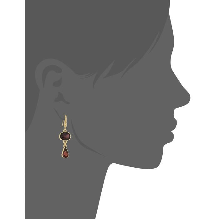 Laundry By Shelli Segal Oval Teardrop Double Drop Earrings GH00S