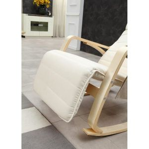 rocking chair blanc adulte chaise a bascule rtro lounge loisir inspiration eames blanc with