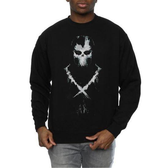 cd60ba1a5f09d Marvel Homme Captain America Civil War Crossbones Sweat-Shirt Noir Noir -  Achat / Vente t-shirt - Cdiscount