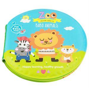 LIVRE D'ÉVEIL Livre en Tissu Dessin Coloré Étanche Zoo Animal Jo