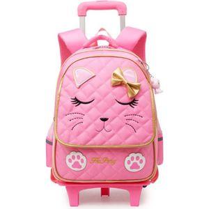 SAC À DOS Sac à dos princesse chat pour enfants avec roues S