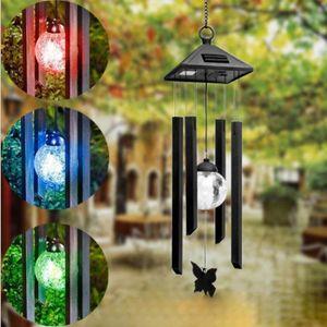 ECLAIRAGE DE MEUBLE Solar Wind Chime Lumière Changement de couleur LED