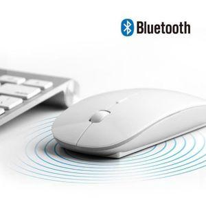 8.1//10 Clavier sans Fil de Haute qualit/é /à Del 2.4G USB pour Windows XP Noir 7//8 Clavier Bluetooth Ultra-Mince Mac OS