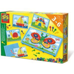 JEU DE MOSAIQUE SES CREATIVE Tableau mosaïque avec cartes  14898