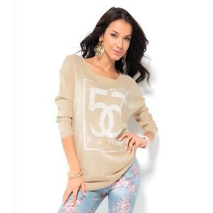 PULL Pull manches longues avec strass femme Venca