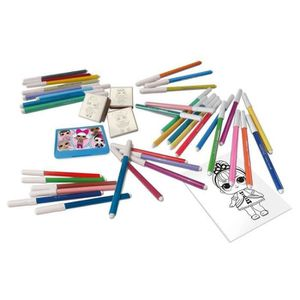 KIT DE DESSIN LOL SURPRISE Coffret 36 feutres + Timbres