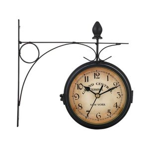 orientable /à 360 /° Horloge Gare Horloge pivotante Murale Horloge dext/érieur Jardin Double Face Horloge Murale