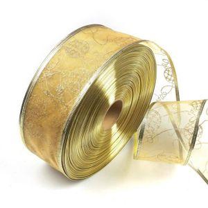 Berisfords Festive bord doré ruban satin 3 mm Large-Bleu marine-par mètre