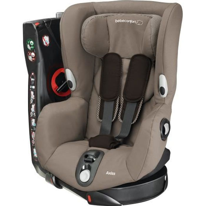 BEBE CONFORT Siège Auto Axiss Groupe 1 - Earth Brown - Pivotant