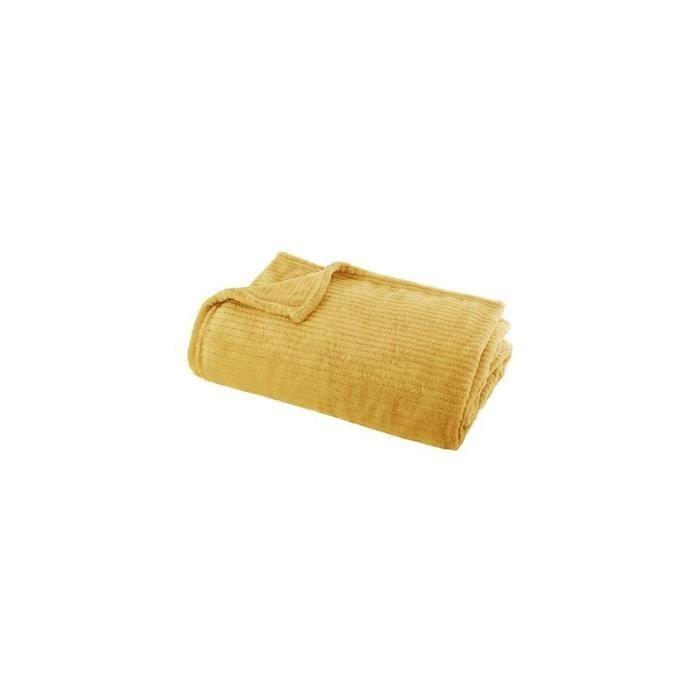 Plaid jaune - L 150 x l 125 cm 150 cm Jaune