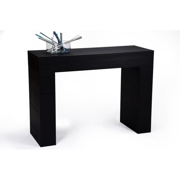 Mobili Fiver, Table console, Evolution, Frêne noir, Mélaminé, Made in Italy