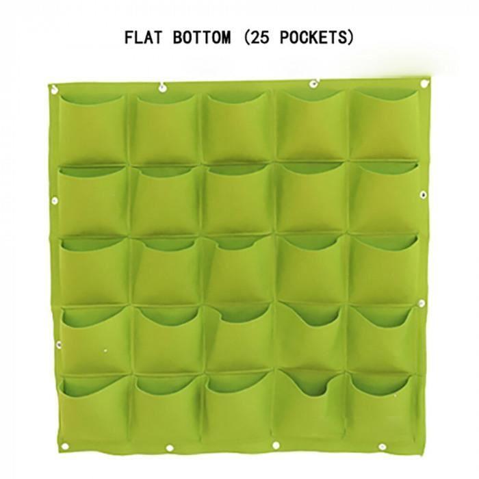 Version 25 poches () - Sacs De Plantation Suspendus Au Mur - Fournitures Maison, Sac Culture Bricolage Multi-Pochettes, Planteur