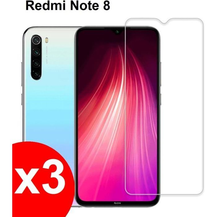 X3 protege ecran verre trempe xiaomi redmi note 8